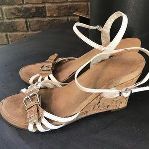 AEROSOLES cork wedges heel sandals. Size 12